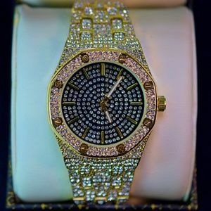 Other - Full Iced Out Octagon Shape Luxury Watch